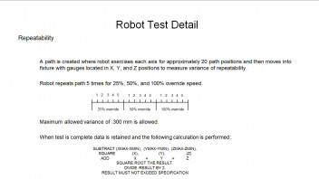 Good repeatability test? - Fanuc Robot Forum - Robotforum